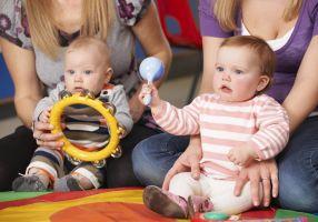 Kids at playgroup