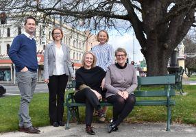 City of Ballarat Economic Development Team in Sturt Street Gardens