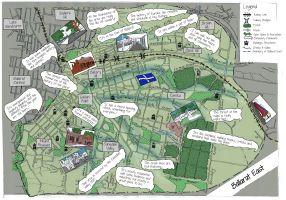 Ballarat East community map local area plan